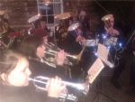 Front Row Cornets Christmas Carolling at Trereife Christmas Fair